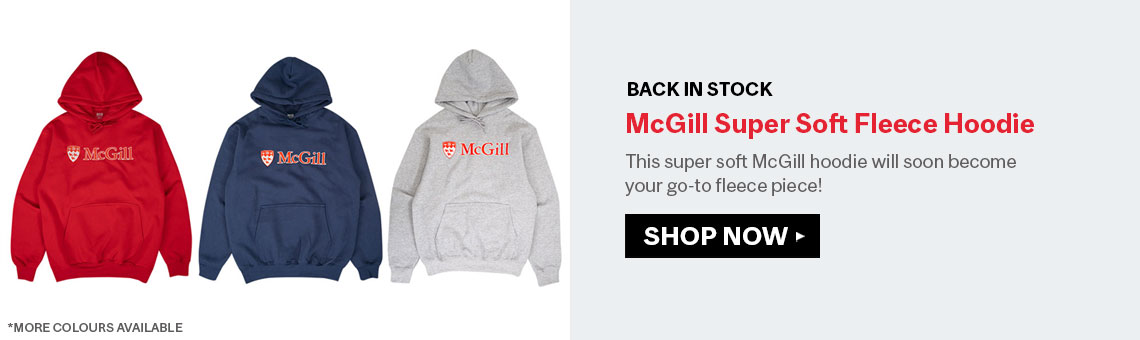 BACK IN STOCK: McGill Super Soft Fleece Hoodie