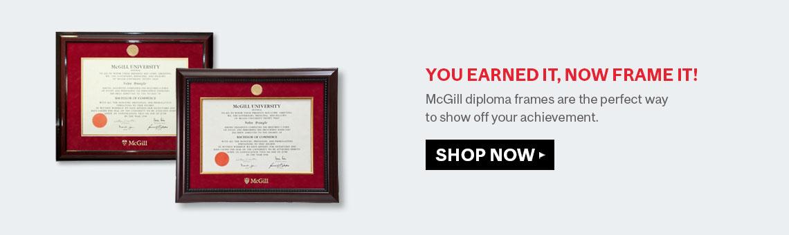 LE JAMES McGill Bookstore: Diploma Frames