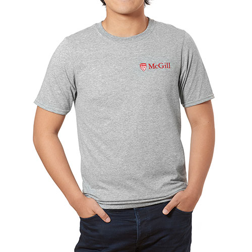 [McGill University Embroidered Tee][GREY]