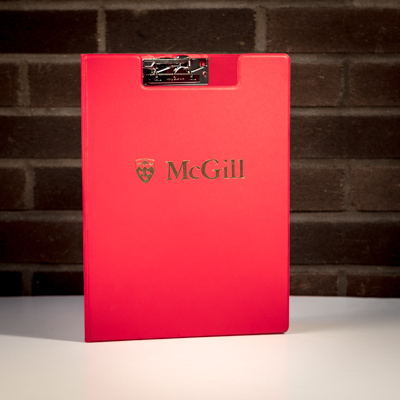 McGill Gold Imprint Clipboard