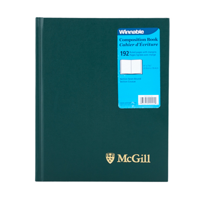 McGill University Composition Book GREEN