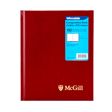 McGill University Composition Book RED
