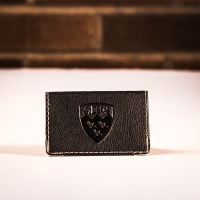 McGill Embossed Business Card Holder - BLACK