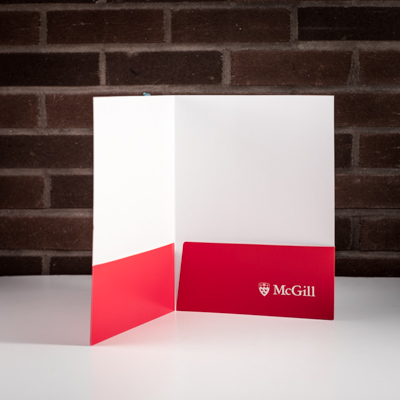McGill University Folder Red