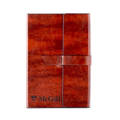 Mcgill University Fabrizio Leather Portfolio brown