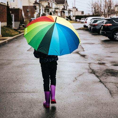 McGill Rainbow Umbrella with Wooden Handle