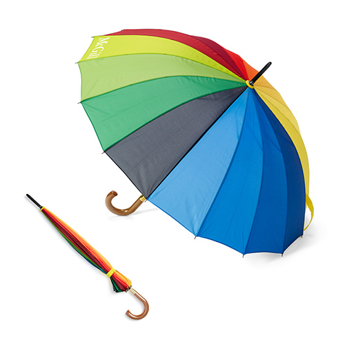 McGill Rainbow Umbrella with Wooden Handle