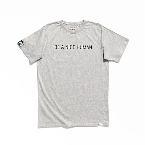 McGill Fairtrade Be A Nice Human Tee - GREY