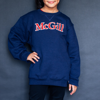 SWEATSHIRT YOUTH CREW 2 COLOUR PRINT NAVY