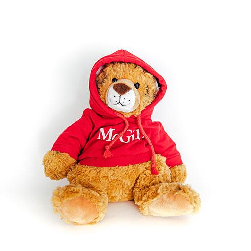 McGill Red Hoodie Cuddle Buddy Tiger