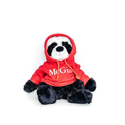 PLUSH PANDA CUDDLE BUDDIES RED HOODIE - BLACK/WHITE