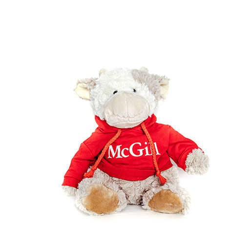 McGill Red Hoodie Cuddle Buddy Cow