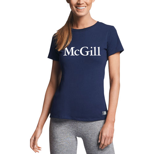 McGill Russell Ladies S/S Tee - NAVY