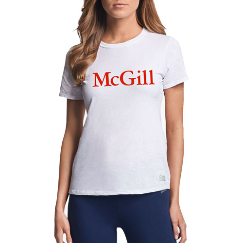 McGill Russell Ladies S/S Tee - WHITE