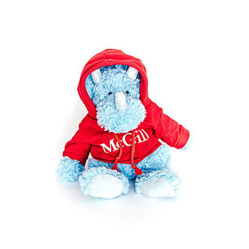 McGill Red Hoodie Cuddle Buddy Triceratops