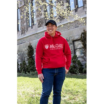 McGill University Hoodie Red