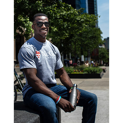 McGill University Basic Tee - GREY