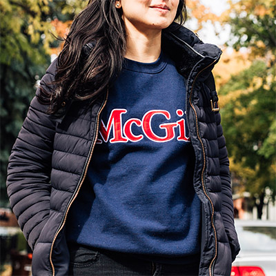 McGill 2 Tone Embroidered Fleece - NAVY
