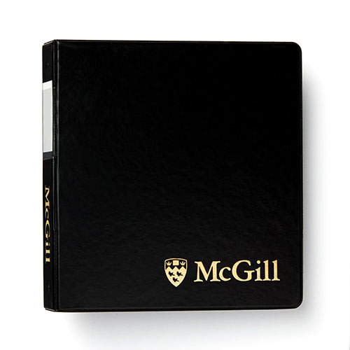 McGill Classic Binder 1 inch - BLACK