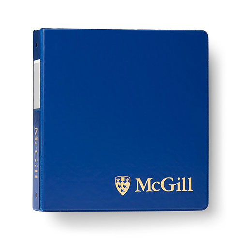 McGill Classic Binder 2 inches - BLUE