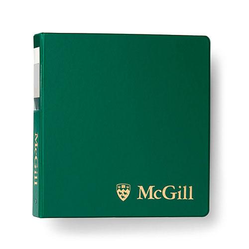 McGill Classic Binder 1.5 inch - GREEN