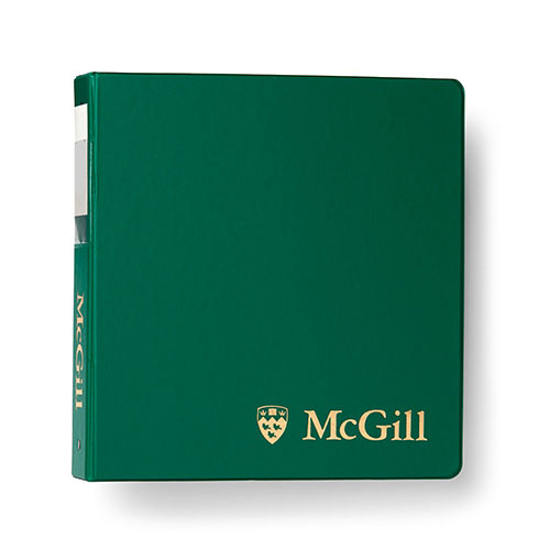 McGill Classic Binder 2 inches - GREEN