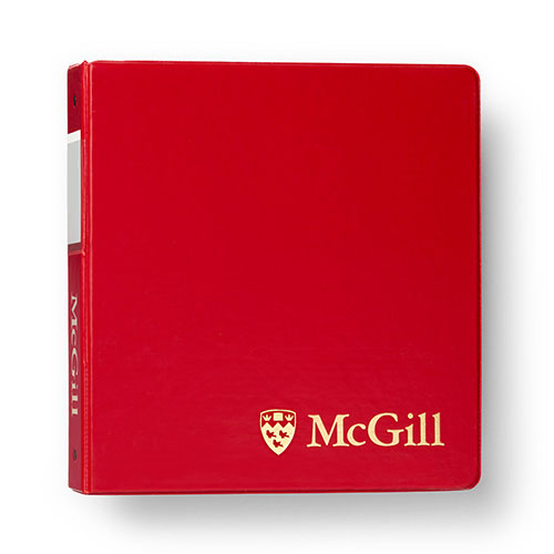 McGill Classic Binder 1 inch - RED