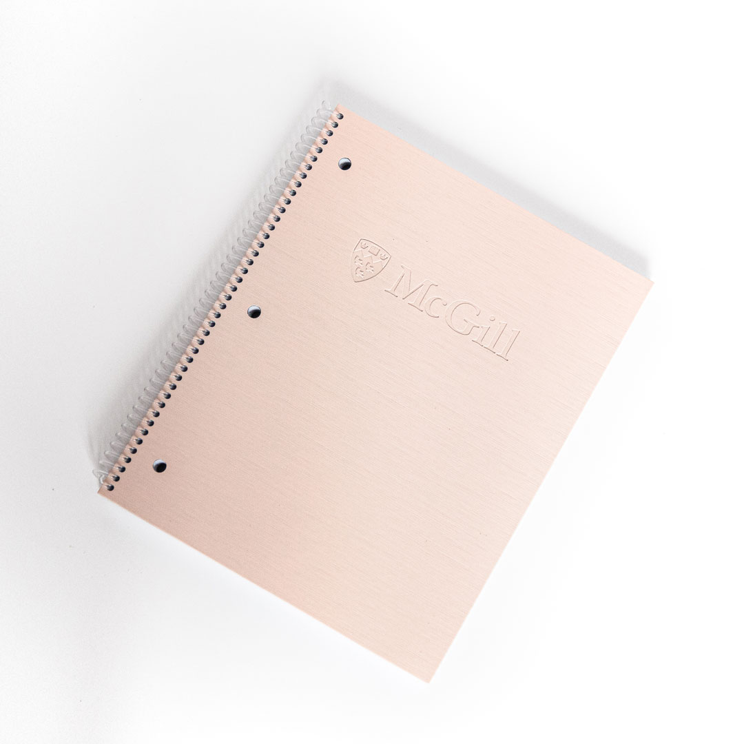 McGill 2-Subject Poly Cover Notebook