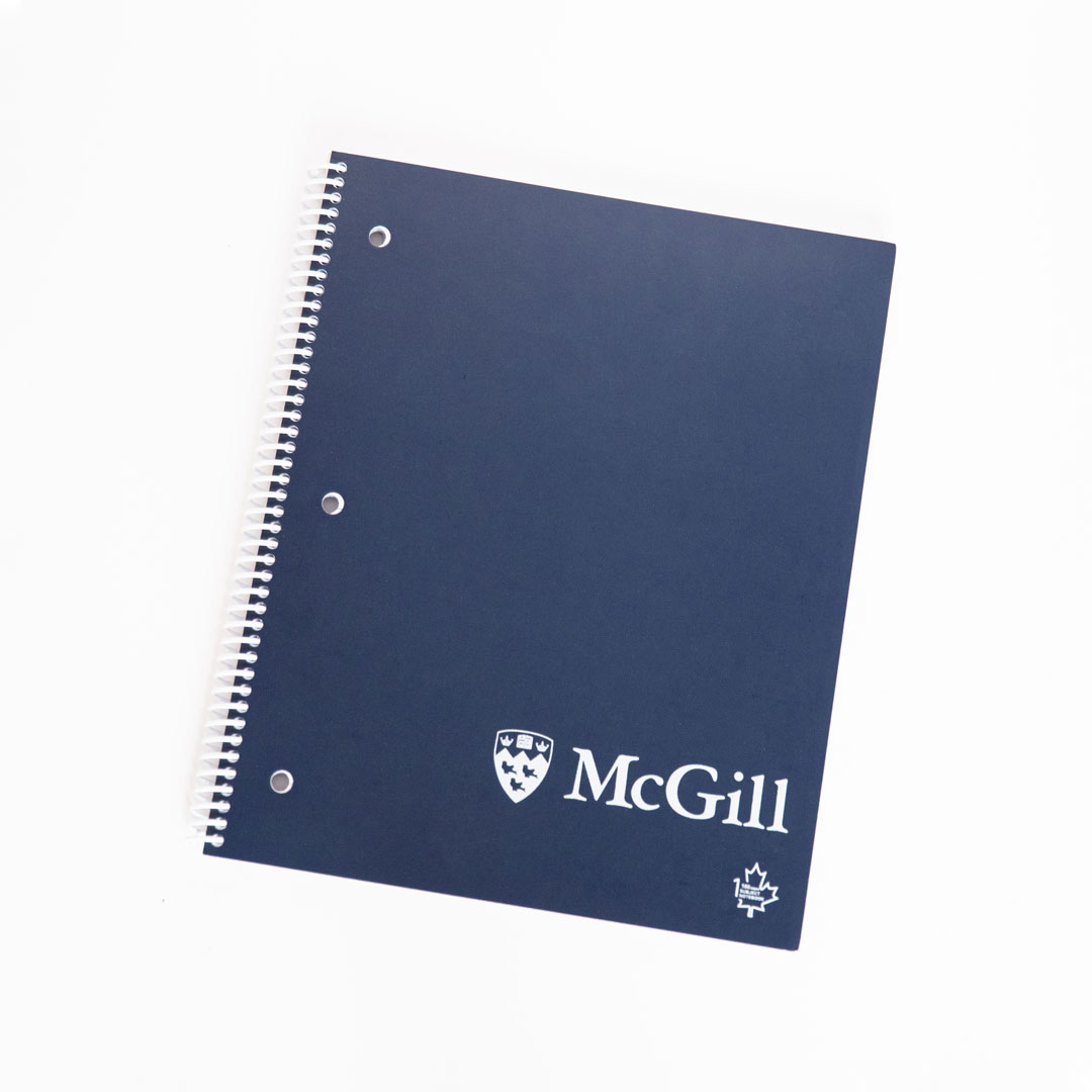 McGill 1-Subject Recycled Paper Notebook in Navy