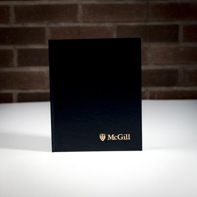 McGill University Composition Book Black
