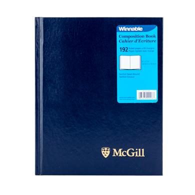 McGill University Composition Book BLUE