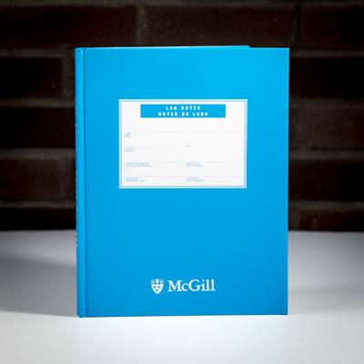 McGill University Lab Book 200 Page Blue