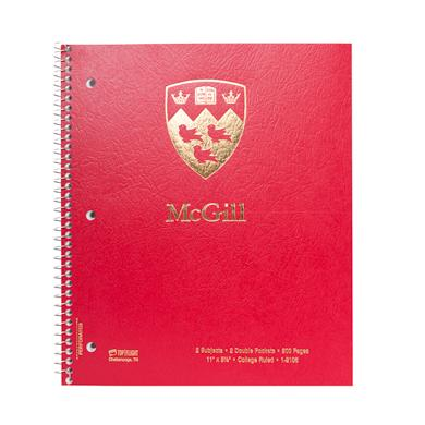 Two-Subject McGill Notebook