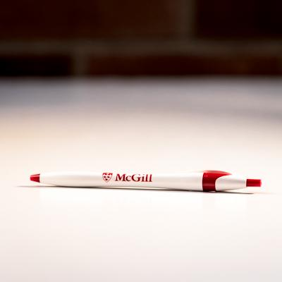 McGill Pen Red White