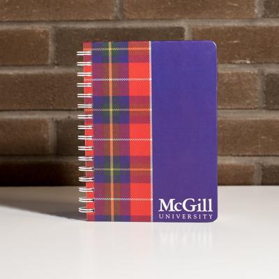 McGill Notebook Plaid Wire Bound