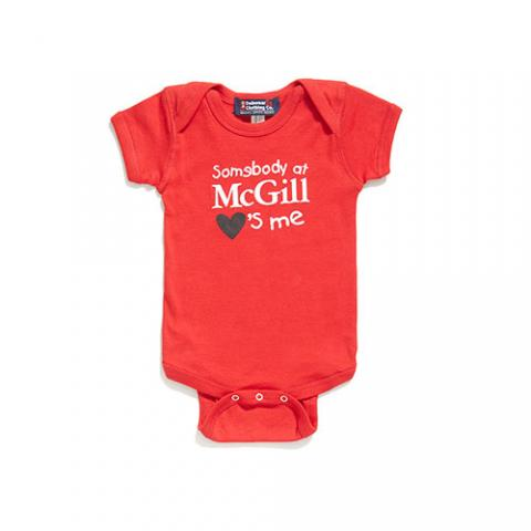 McGill University ONESIE SOMEBODY LOVES ME