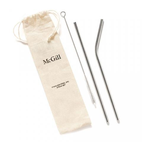 McGill Stainless Steel Straw Set