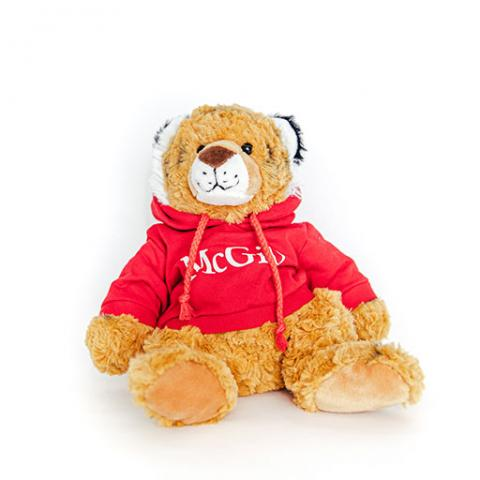 McGill Red Hoodie Cuddle Buddy Tiger