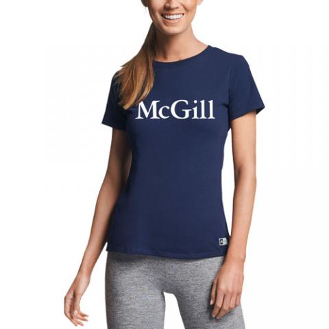 McGill Russell Ladies S/S Tee - NAVY