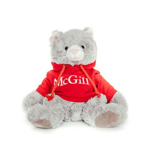 McGill Red Hoodie Cuddle Buddy Cat