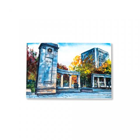McGill Roddick Gates Postcard