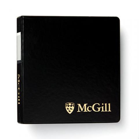 McGill Classic Binder 1.5 inch - BLACK