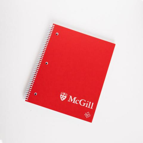 McGill 2-Subject Recycled Paper Notebook in Red