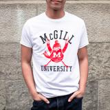 MCGILL T SHIRT VINTAGE CHEERING MARTLET WHITE
